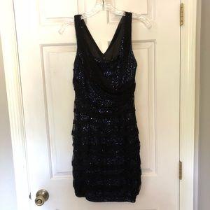 Express shimmer bodycon dress